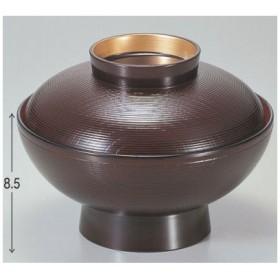 煮物椀 保温煮物椀溜千筋内朱つば金 漆器/グループI