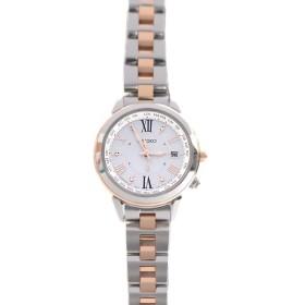 セイコー SEIKO SSQV020 LUKIA ルキア ソーラー電波 レディース腕時計 TI チタン 中古