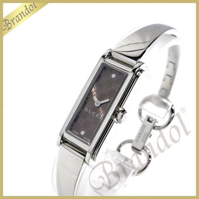 5b0365404519 グッチ GUCCI レディース レディース腕時計 Gライン バングルウォッチ ブラウン×シルバー YA109529 [在庫品