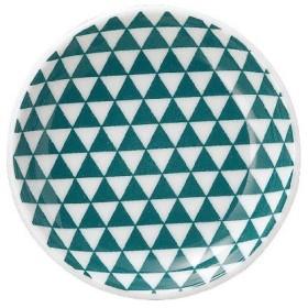 山格子 10cm丸皿 緑 丸皿/グループB
