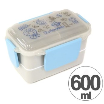 お弁当箱 2段 ランチボックス ドラえもん Doraemon 600ml キャラクター 仕切り付き ( 弁当箱 ランチボックス ドーム型 )