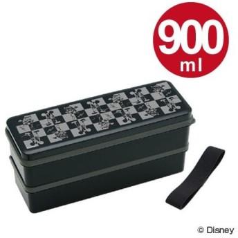 ■在庫限り・入荷なし■お弁当箱 2段 ミッキーマウス モード シリコン製シール蓋 スリム 900ml 箸付き メンズ