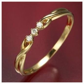 ds-506974 K18ダイヤリング 指輪 デザインリング 7号 (ds506974)
