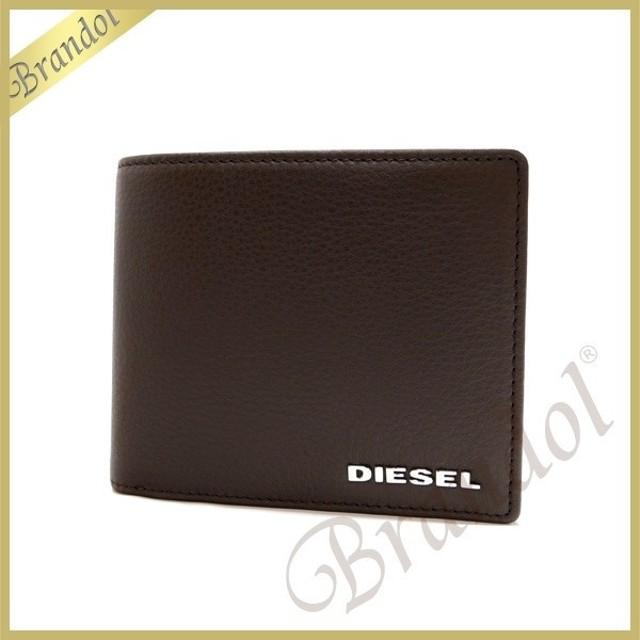 ba520b396bde ディーゼル DIESEL メンズ 二つ折り財布 HIRESH S レザー ブラウン X03149 PS777 T2184 [在庫品