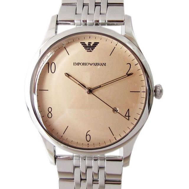 dbabd251fc エンポリオ アルマーニ 腕時計 EMPORIO ARMANI CLASSIC クラシック クリーム×シルバー ステンレスベルト メンズ AR1881
