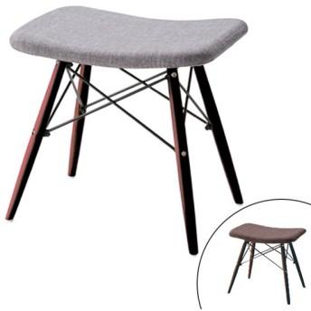 ■在庫限り・入荷なし■ スツール 布張りスツール ブラウン脚 ( 椅子 チェア スツール(背もたれなし) )