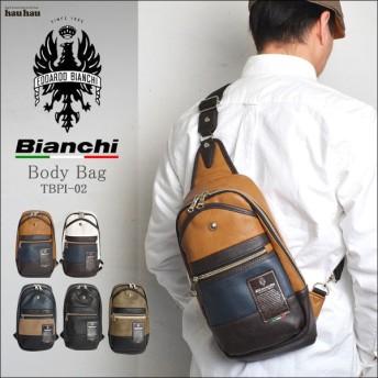 ボディバッグ メンズ Bianchi ビアンキ フェイクレザーバッグ ワンショルダー おしゃれ レザー レディース TBPI-02 通勤 通学 大人
