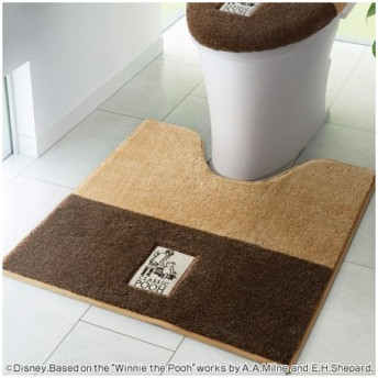 ■在庫限り・入荷なし■トイレマット スミノエ くまのプーさん シークレット 60×60cm ( トイレ用品 トイレタリー )