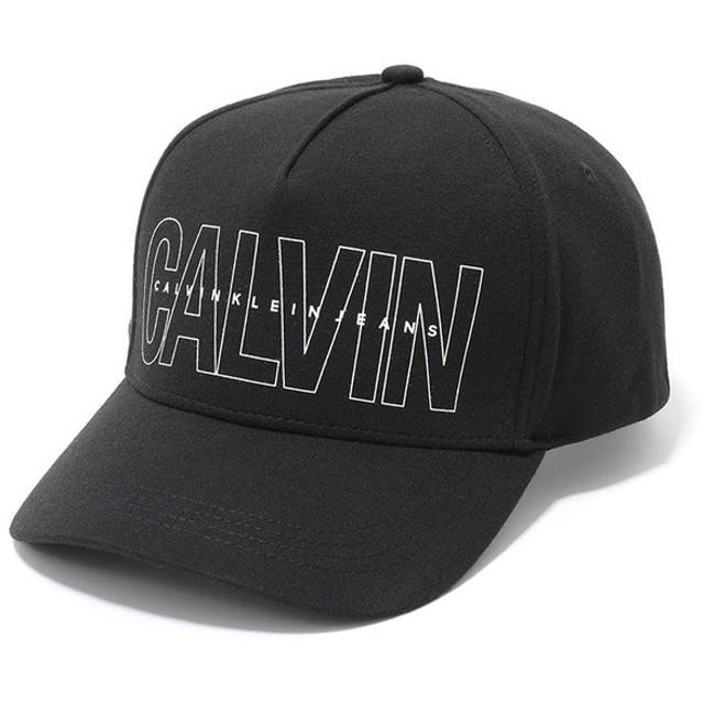 Calvin klein jeans カルバンクライン ジーンズ 41GH901 ロゴプリント×刺繍 ベースボールキャップ 帽子 スポーツキャップ カラー010/BLACK
