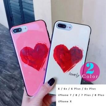 ケース スマホ カバー ハート 絵具 立体的 可愛い お揃い Iphone6 Iphone6s Iphone7 Iphone7plus Iphone8 Iphone8plus iPhone10 iPhoneX