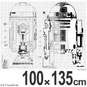 ■在庫限り・入荷なし■スターウォーズ カーテン 遮光 R2-D2LINE 100×135cm ( R2D2 形状記憶 スミノエ )