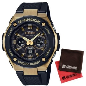 (国内正規品)(セット)(カシオ)CASIO 腕時計 GST-W300G-1A9JF (ジーショック)G-SHOCK メンズ G-STEEL (GSTW300G1A9JF)&クロス2枚(メール便不可)