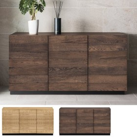 ■在庫限り・入荷なし■ キャビネット リビングボード 天然木 ナチュラル調 RIGA 幅120cm ( 木製 オーク 本棚 収納棚 完成品 )