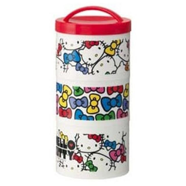■在庫限り・入荷なし■お弁当箱 ボトル型ランチボックス 3段 ハローキティ フェイス