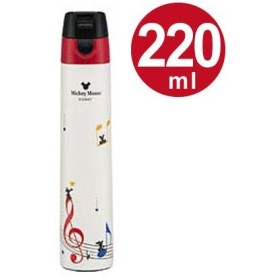 ■在庫限り・入荷なし■水筒 ミッキーマウス 直飲み 超スリムロック式 ワンプッシュステンレスボトル 220ml