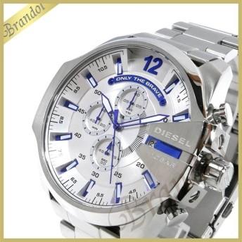 ディーゼル DIESEL メンズ 腕時計 メガチーフ クロノグラフ Mega Chief 52mm シルバー×ブルー DZ4477