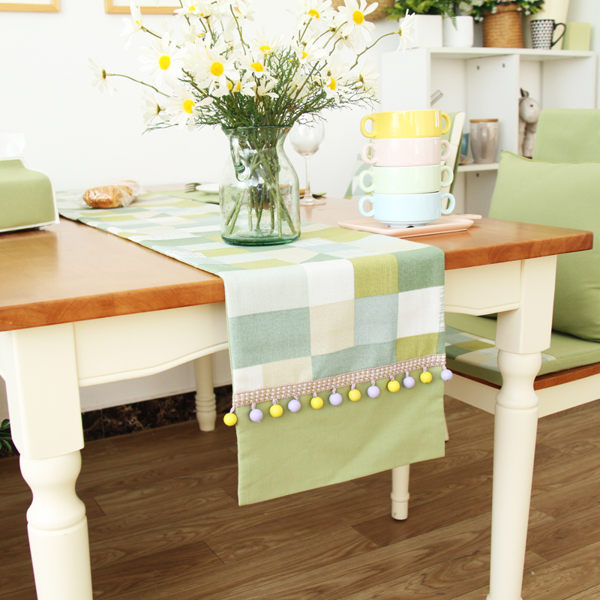 時尚可愛空間餐桌布 茶几布 隔熱墊 鍋墊 杯墊 餐桌巾桌旗 515 (33*200cm)