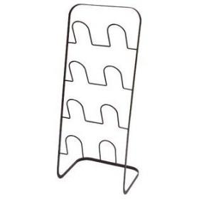 ds-2034088 【4個セット】 シンプル スリッパラック/玄関収納 【ブラウン】 幅25cm スチール製 4足収納 『framo』 (ds2034088)