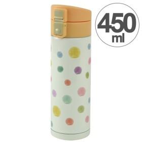 水筒 ルシェルシュ ワンプッシュボトル ポルカドット 450ml ステンレス製 ( ステンレスボトル 直飲み 保温 保冷 )
