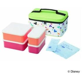■在庫限り・入荷なし■ピクニックランチボックス お弁当箱 ミッキーマウス カラフルクレヨン 保冷バッグ付 行楽ランチセット