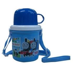 ■在庫限り・入荷なし■子供用水筒 きかんしゃトーマス コップ付 350ml プラスチック製 キャラクター