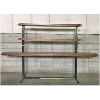 三段ウッドテーブル 業務用 中古/送料別途見積