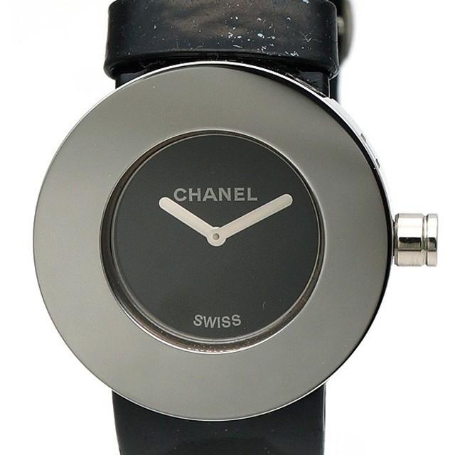 1e7be756e352 CHANEL シャネル ラ・ロンド レディース腕時計 ステンレススチール クォーツ 黒【中古AB/使用