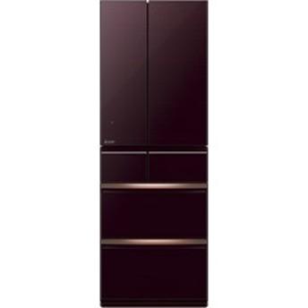 MR-WX52D-BR 冷蔵庫 クリスタルブラウン [6ドア /観音開きタイプ /517L]