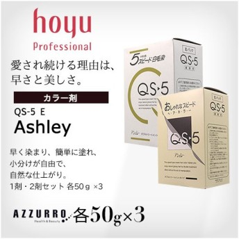 ホーユー アシュレー QS-5 E 業務用 50g×3本 1剤 2剤