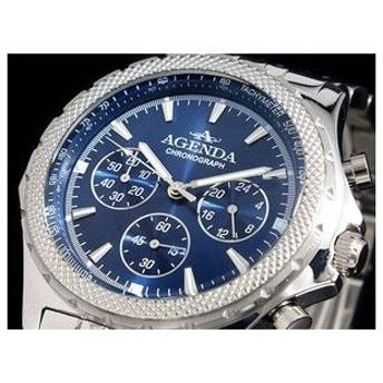アジェンダ AGENDA 腕時計 クロノグラフ AG-8043-03