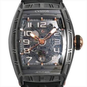 48回払いまで無金利 クストス チャレンジ ジェットライナー CVT-JET-SL-CP5NTT 中古 メンズ 腕時計 キャッシュレス5%還元