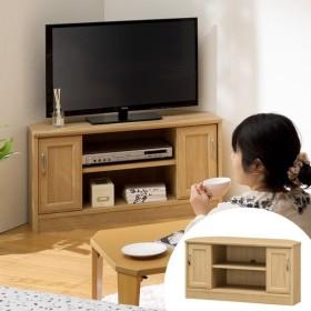 テレビ台 コーナー ローボード 引戸付 ナチュラル調 ホノボーラ 幅89cm ( TVボード 木目 シンプル 北欧 32V )