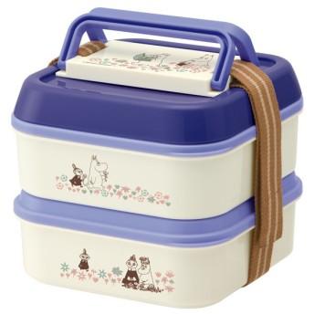 ピクニックランチボックス お弁当箱 2段 ムーミン お花畑 ランチプレート4枚付 ( ランチボックス ピクニックケース ドーム型 )