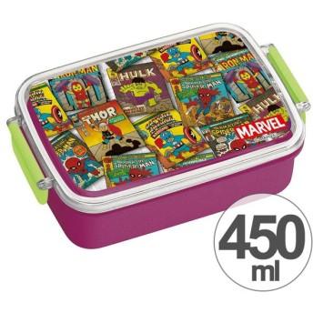 ■在庫限り・入荷なし■お弁当箱 角型 マーベル ポップコミック 450ml 子供用 キャラクター ( タイトランチボックス 食洗機対応 弁当箱 )