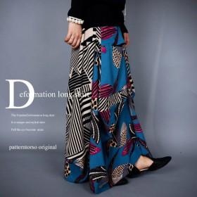 待望の新作。retro color幾何学柄変形スカート##・再販。メール便不可