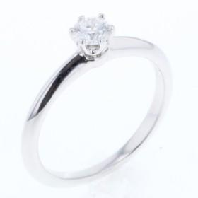 最終値下げ ティファニー リング 指輪 8号 プラチナPT950 ダイヤモンド0.24ct F IF VERY GOOD 鑑定書付 レディース TIFFANY&Co. 中古 R80427001 PD3