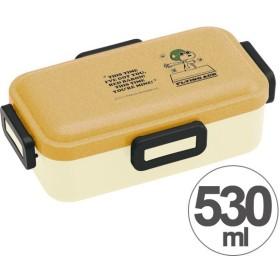 ■在庫限り・入荷なし■お弁当箱 スヌーピー ウッド風 ふわっと弁当箱 530ml ( 食洗機対応 弁当箱 ランチボックス )