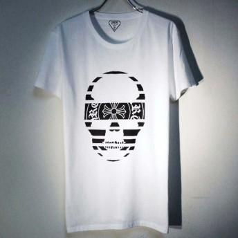 スカル クロス Tシャツ / White