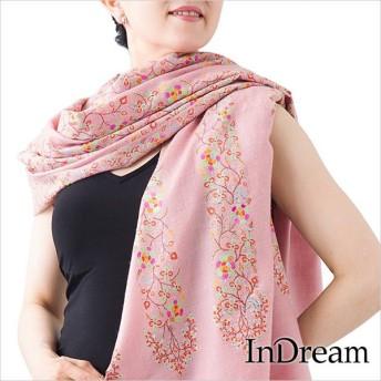パシュミナ刺繍ショール [100cm巾] ピンク03
