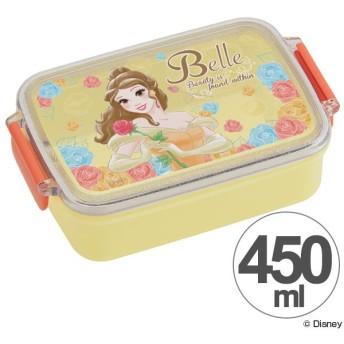 お弁当箱 角型 美女と野獣 ベル 450ml キャラクター ( タイトランチボックス 食洗機対応 弁当箱 )