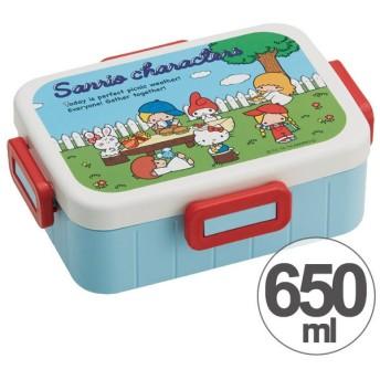 お弁当箱 サンリオ キャラクターズ70s 4点ロックランチボックス 1段 650ml キャラクター ( 食洗機対応 弁当箱 4点ロック式 )