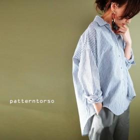 """""""使える""""シャツ。垢抜け美人の素。綿麻ストライプシャツ・再再販。『トレンドとともに自分の途をあゆむ。』##「G」メール便不可"""