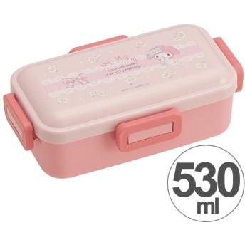 お弁当箱 マイメロディ マーガレット ふわっと弁当箱 1段 530ml ( 食洗機対応 弁当箱 4点ロック式 )