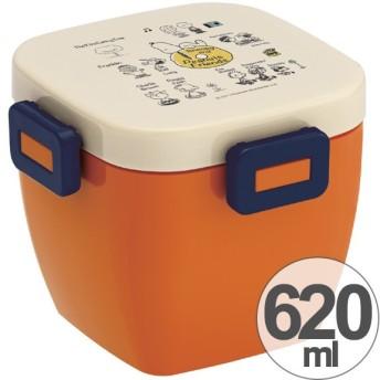 お弁当箱 4点ロック カフェ丼ランチボックス 2段 どんぶり型 スヌーピー ともだち 620ml ( 弁当箱 ランチボックス どんぶり )