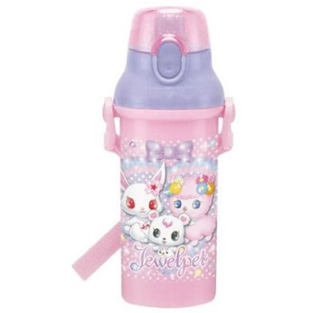 ■在庫限り・入荷なし■子供用水筒 ジュエルペット 直飲みプラワンタッチボトル 480ml プラスチック製 キャラクター