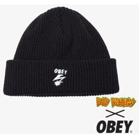 【OBEY/オベイ】BAD BRAINS BOLT BEANIE ビーニー帽 / BLACK