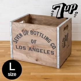 スタッキングウッドボックス ヴ ィンテージ風 Lサイズ 天然木 木 製 収納 整理 セブンアップ 収納 ボックス ブラウン
