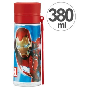 水筒 ブローダイレクトボトル アイアンマン マーベル MARVEL 380ml ( 軽量 直飲み ストラップ付 )