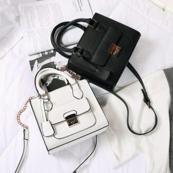 バッグ 鞄 かばん bag レディース ハンドバッグ ショルダーバッグ コンパクト ブラック ホワイト 小物