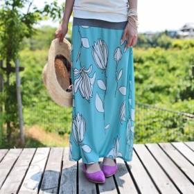 選んで間違いない。2wayレトロ花柄ロングスカート・『この色がチカラをくれる、可愛いロングスカートなら。』##メール便不可